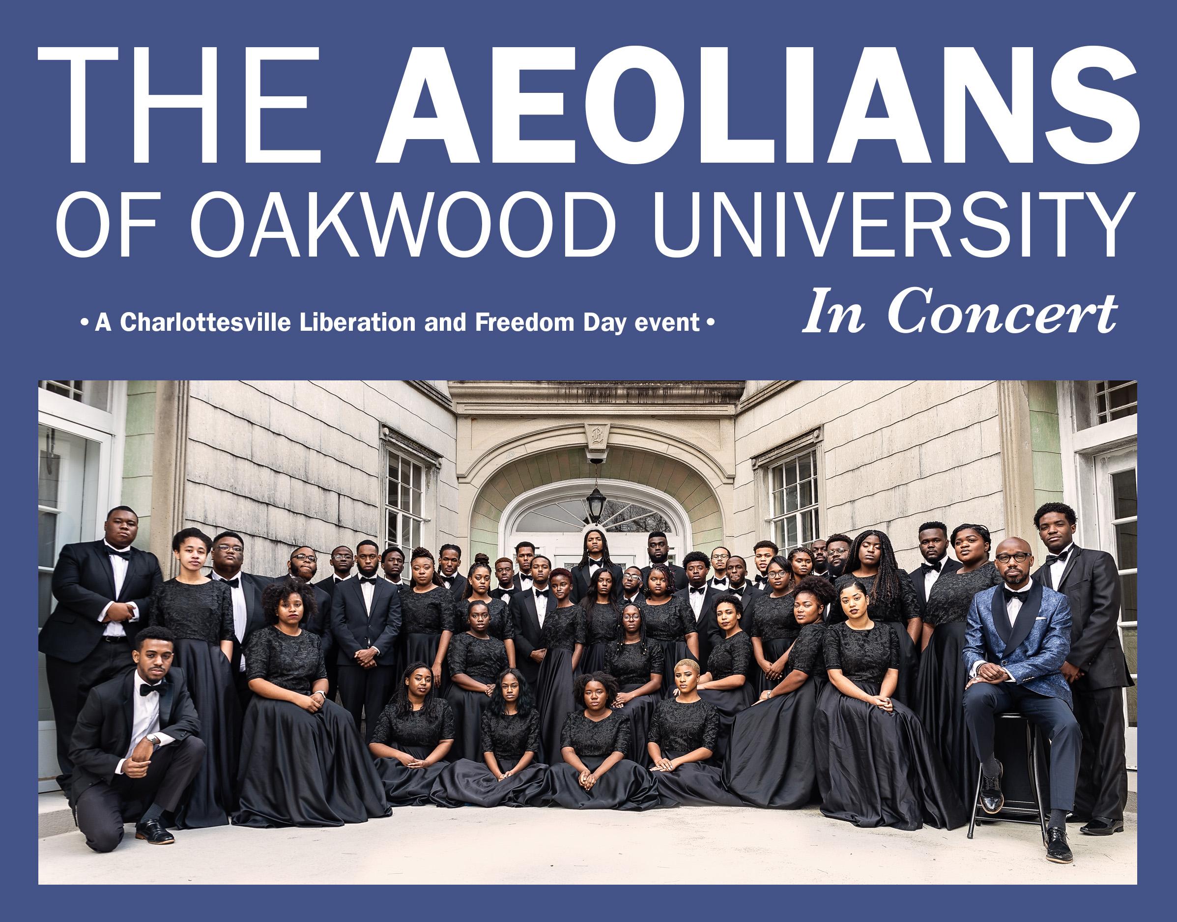 The Aeolians of Oakwood University group portrait.