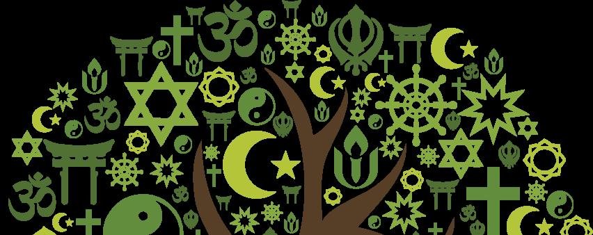 Tree from faith tradition sybmols.