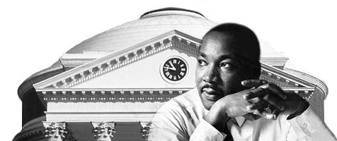 martin luther king in front of uva rotunda