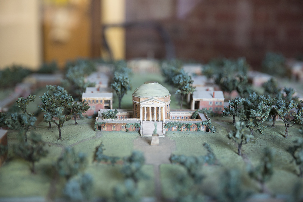 Architectural model of Rotunda and academical village