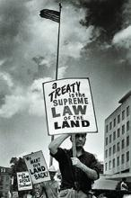 Maria Varela photgraph of land activist in 1968 poor people's campaign.
